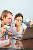 Couple having financial problem Royalty Free Stock Photos