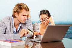 Couple having financial problem Stock Images