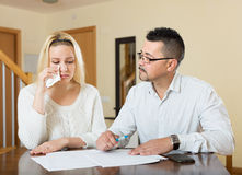 Couple having a financial problems Stock Images