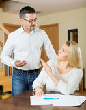 Couple having a financial problems Royalty Free Stock Photo