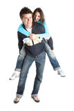Couple Having Fun royalty free stock photo