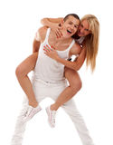 Couple having fun Stock Images