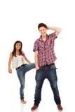Couple having fun Stock Image
