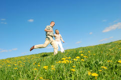 Couple having fun Royalty Free Stock Images