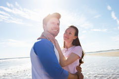 Couple Having Fun On Beach Holiday Royalty Free Stock Image