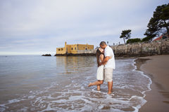 Couple having fun at the beach Royalty Free Stock Photography