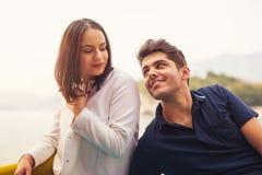 Couple having fun at the beach Stock Photos