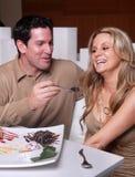 Couple having fun and celebrating Stock Image