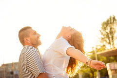 Couple having fun Stock Photo