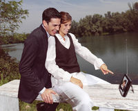 Couple having fun jki Stock Photography