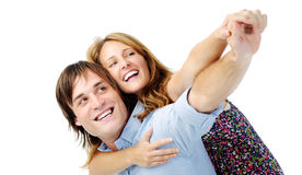 Couple having fun and laughing Stock Photography