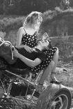 Couple having fun outdoors Stock Photo