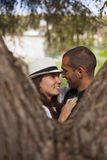 Couple having fun at the park Stock Photo