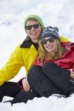 Couple Having Fun On Ski Holiday In Mountains Royalty Free Stock Photo