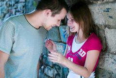 Couple having fun together royalty free stock photo