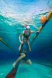 Couple having fun underwater Stock Images