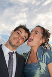 Couple Having Funny Moment Stock Photography