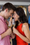 Couple having glass of champagne Stock Photo