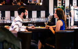Couple having a glass of wine Royalty Free Stock Photo