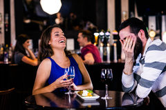 Couple having a glass of wine Stock Photography