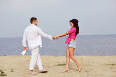 Couple having great time together Stock Image