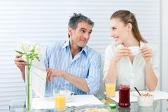 Couple Having Healthy Breakfast Royalty Free Stock Image