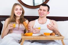 Couple having healthy breakfast Royalty Free Stock Image