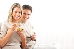 Couple having lunch Stock Photography