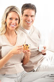 Couple having lunch Royalty Free Stock Photo