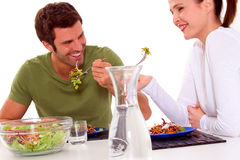 Couple having lunch Stock Image
