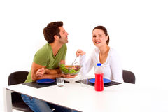 Couple having lunch Royalty Free Stock Photos