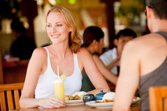 Couple Having Lunch Royalty Free Stock Photography