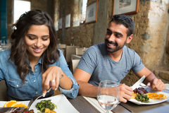 Couple having lunch Stock Images