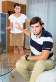 Couple having marriage crisis and quarrelling every day Royalty Free Stock Images