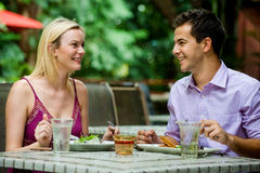 Couple Having Meal Stock Photos