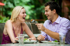 Couple Having Meal Stock Photography