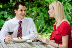 Couple Having Meal Royalty Free Stock Photos