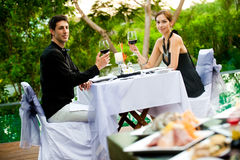 Couple Having Meal Royalty Free Stock Photo
