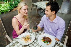 Couple Having Meal Royalty Free Stock Photography