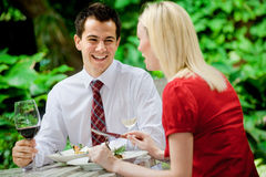Couple Having Meal Royalty Free Stock Images