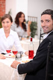 Couple having a meal Stock Image