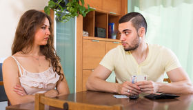Couple having money problems Stock Photo