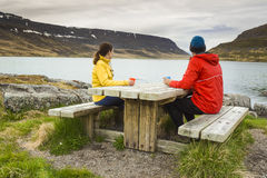 Couple having a nice day in nature Royalty Free Stock Photo