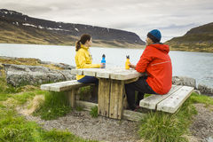 Couple having a nice day in nature Stock Images