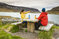 Couple having a nice day in nature Stock Photography