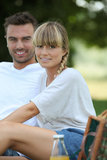 Couple having a picnic Stock Photography