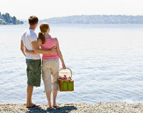 Couple having picnic Stock Photography
