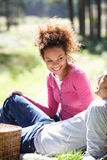 Couple Having Picnic In Countryside Royalty Free Stock Photo