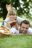 Couple having a picnic Royalty Free Stock Photo