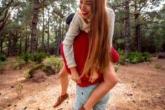 Couple having piggyback Royalty Free Stock Photo